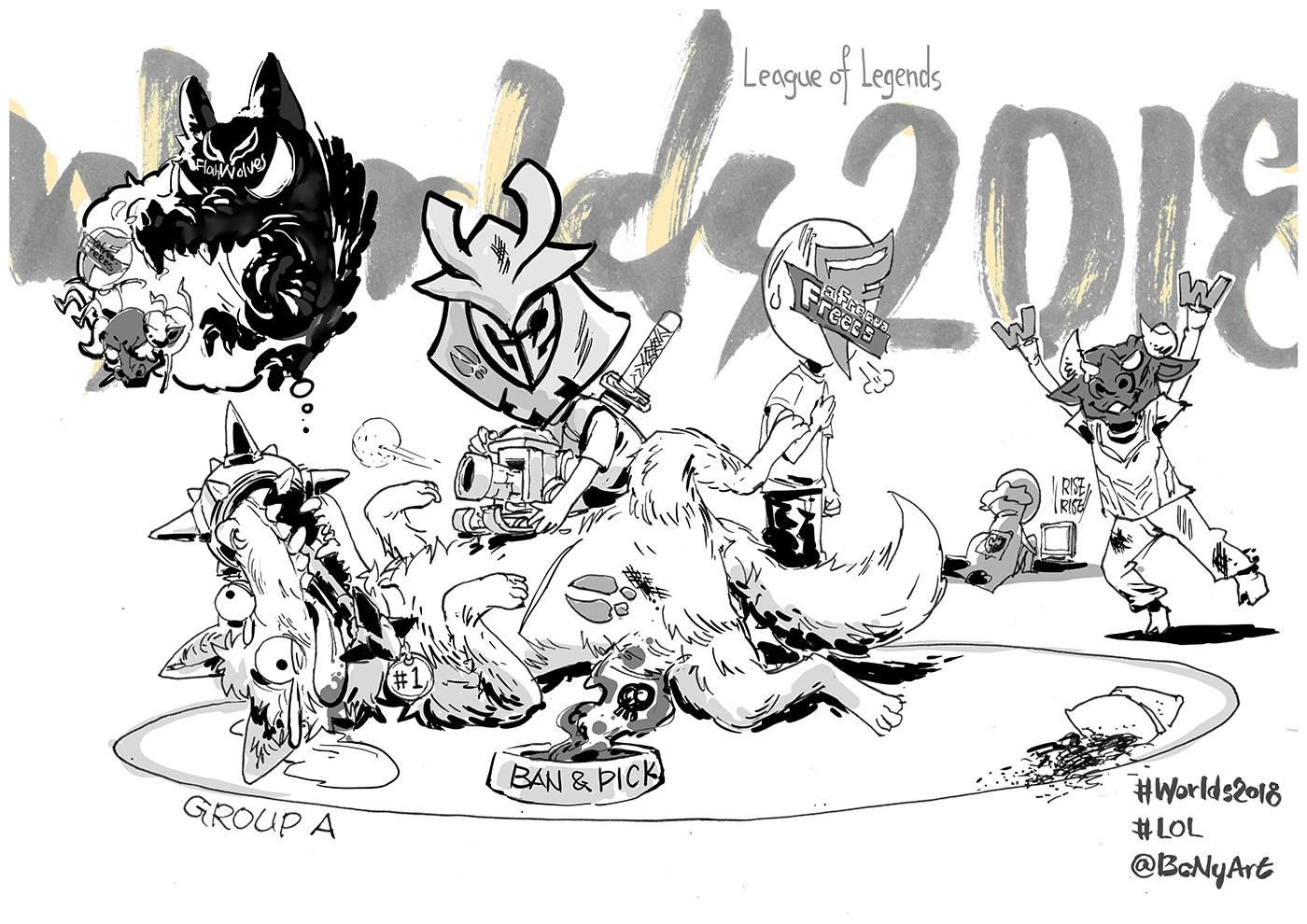 小组赛A组漫画出炉 满满的心疼闪电狼